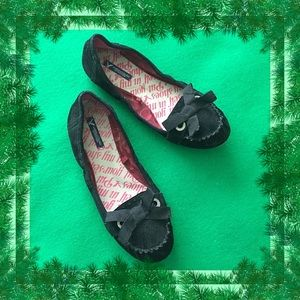 American Eagle Outfitters Black Suede Flats Size 9
